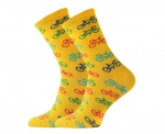 Cycling Passion Yellow Support Sport Socks