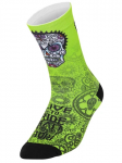 Cycology Day of the Living Lime Cycling Socks