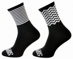 Zig-Zag Stripes Support Sport Cycling Socks