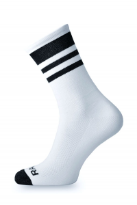Crazybiker Racing White Cycling Socks