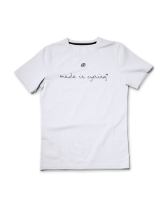 "T-Shirt męski Assos ""Made in Cycling"" Biały"