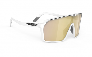 Okulary Rudy Project Spinshield White Matte - Multilaser Gold