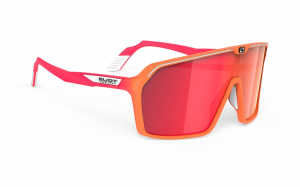 Okulary Rudy Project Spinshield Mandarin Fade / Coral Matte - Multilaser Red
