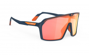 Okulary Rudy Project Spinshield Blue Navy Matte - Multilaser Orange