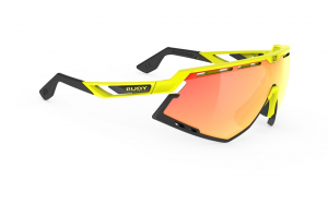 Okulary Rudy Project Defender Yellow Fluo Gloss - Multilaser Orange