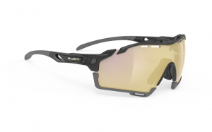 Okulary Rudy Project CUTLINE Black Gloss - Multilaser Gold