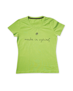 "T-Shirt damski Assos ""Made in Cycling"" Piton Green"