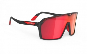 Okulary Rudy Project Spinshield Black Matte - Multilaser Red