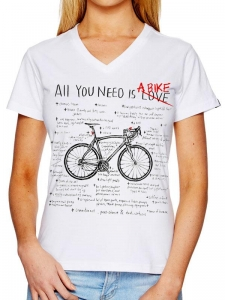 T-shirt damski Cycology All you need White