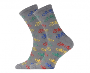 Cycling Passion Grey Support Sport Socks