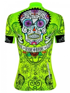 Cycology Day Of The Living Women's Jersey Lime