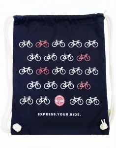 Express.Your.Ride. Drawstring Backpack Navy