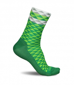 Luxa Asymmetric Green Cycling Socks
