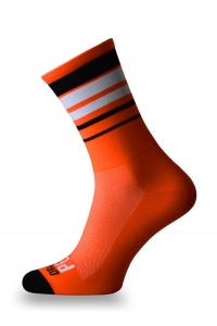 Crazybiker Orange Peel Stripes Cycling Socks