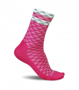 Luxa Asymmetric Pink Cycling Socks