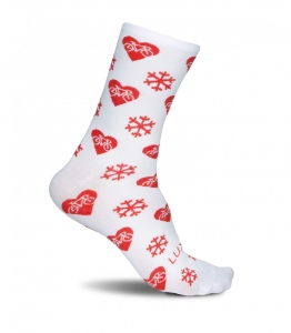 Luxa Christmas Cycling Socks White