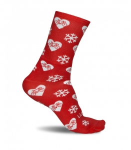 Luxa Christmas Cycling Socks Red