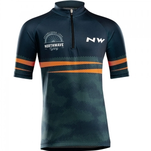 Northwave Origin Junior Jersey Blue/Orange