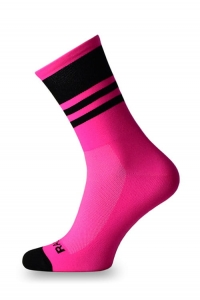Crazybiker Racing Pink Fluo Cycling Socks