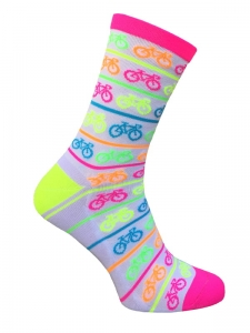Neon Bike Stylówa.PRO Cycling Socks White