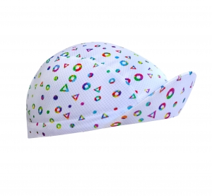 TROFEO. Disco White Lightweight Cycling Cap