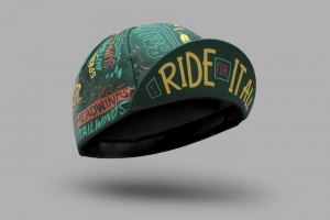 Bello Cyclist 'I Ride For It All' Cycling Cap by Jake Brewer