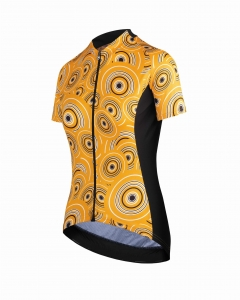 ASSOS UMA GT Short Sleeve Women's Jersey Camou Orange Borealis