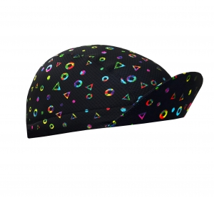 TROFEO. Disco Black Lightweight Cycling Cap