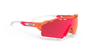 Okulary Rudy Project CUTLINE Mandarin Fade / Coral Matte - RP Optics Multilaser Red
