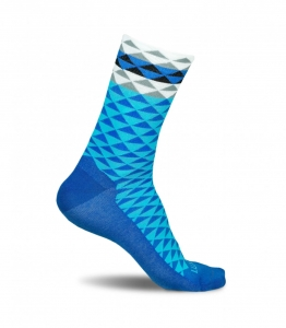 Luxa Asymmetric Blue Cycling Socks
