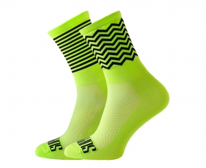 Skarpetki kolarskie Support Sport Zig-Zag Stripes Fluo