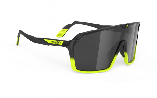 Okulary Rudy Project Spinshield Black Fade Yellow Fluo Matte - Smoke Black