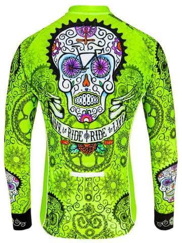 Bluza kolarska Cycology Day of the Living Lime
